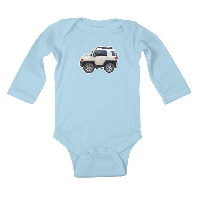 Mini FJ Cruiser Kids Baby Longsleeve Bodysuit by Pixel Panzers's Merch Emporium
