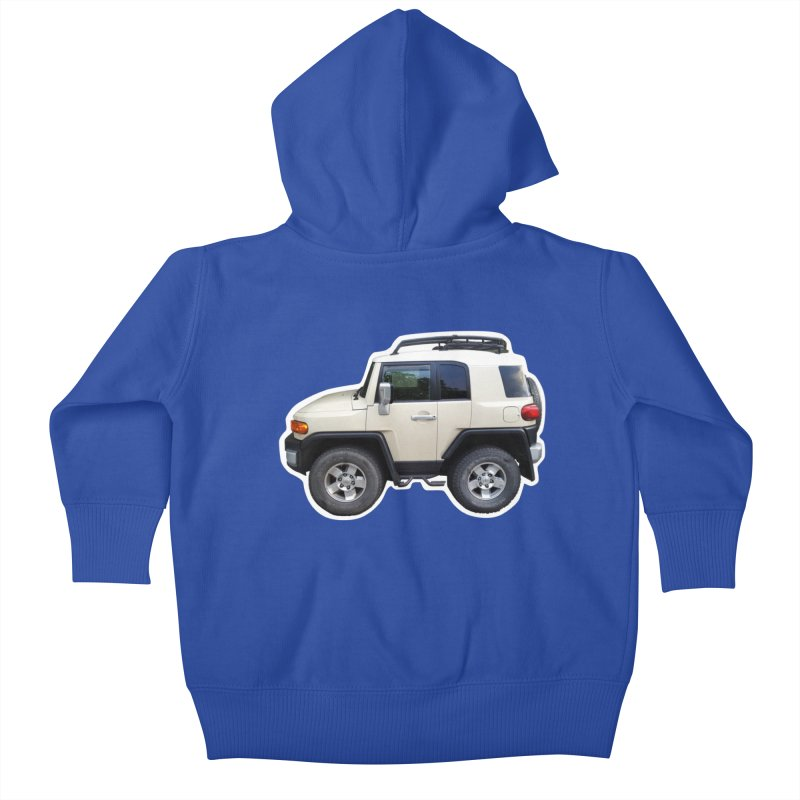 Mini FJ Cruiser Kids Baby Zip-Up Hoody by Pixel Panzers's Merch Emporium