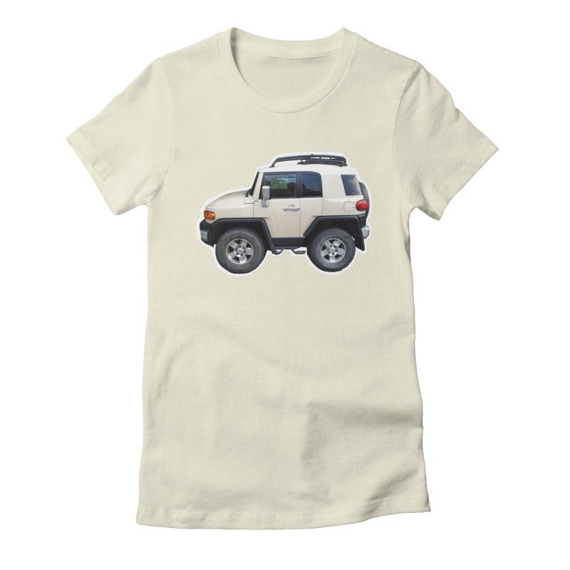 Mini FJ Cruiser Women's Fitted T-Shirt by Pixel Panzers's Merch Emporium