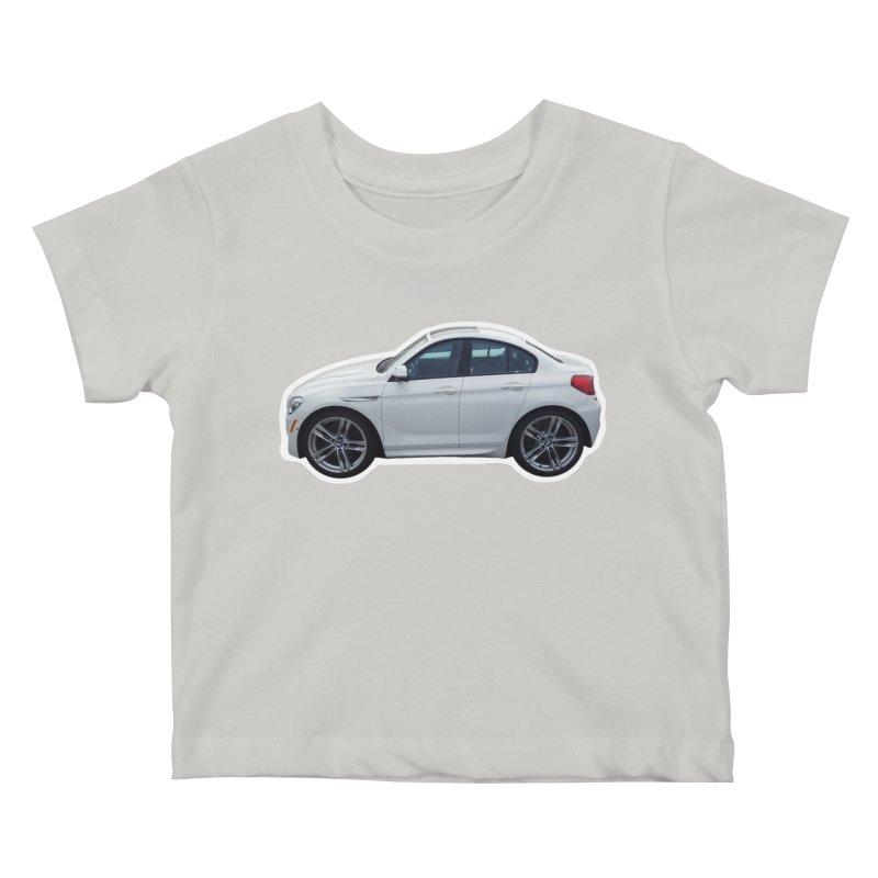 Mini BMW 6 Series Kids Baby T-Shirt by Pixel Panzers's Merch Emporium