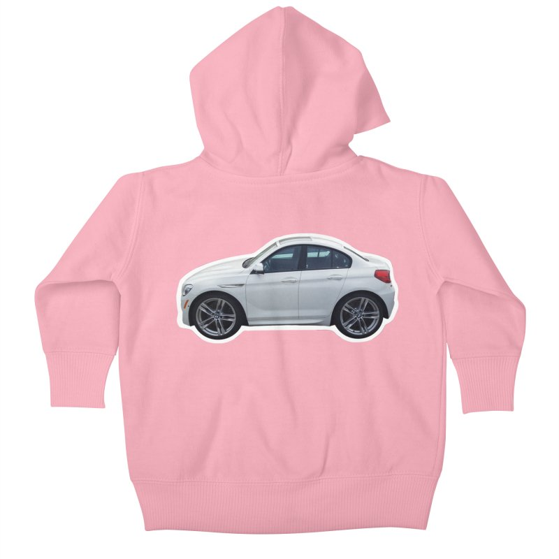Mini BMW 6 Series Kids Baby Zip-Up Hoody by Pixel Panzers's Merch Emporium