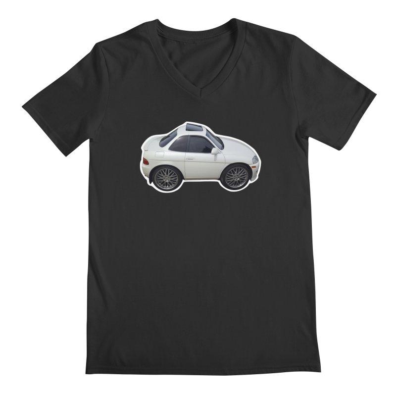 Mini Toyota Soarer in Men's V-Neck Smoke by Pixel Panzers's Merch Emporium