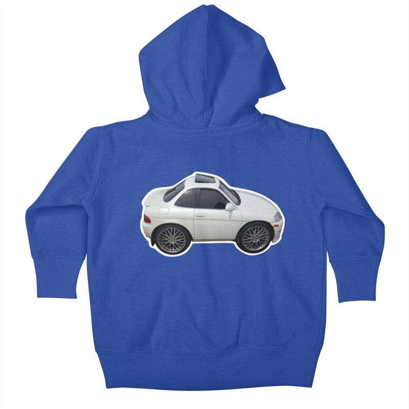 Mini Toyota Soarer Kids Baby Zip-Up Hoody by Pixel Panzers's Merch Emporium