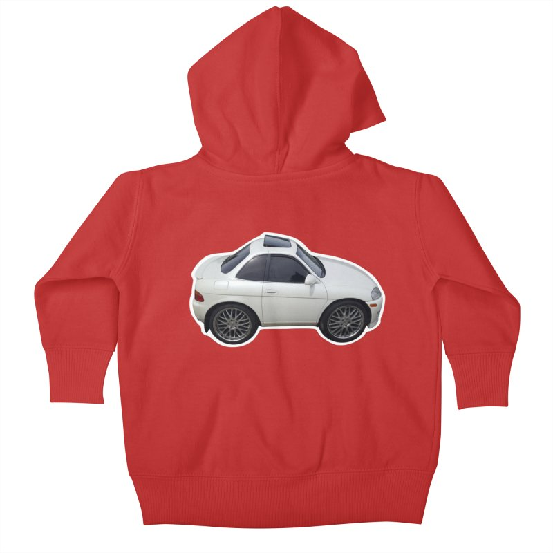 Mini Toyota Soarer Kids Baby Zip-Up Hoody by Pixel Panzers's Merch Emporium