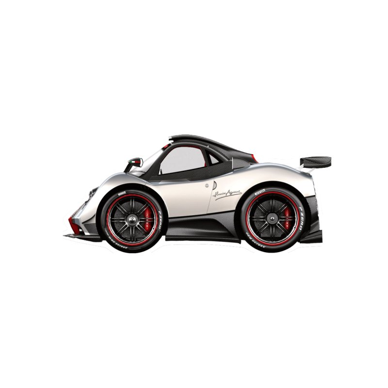 Mini Pagani Zonda by Pixel Panzers's Merch Emporium