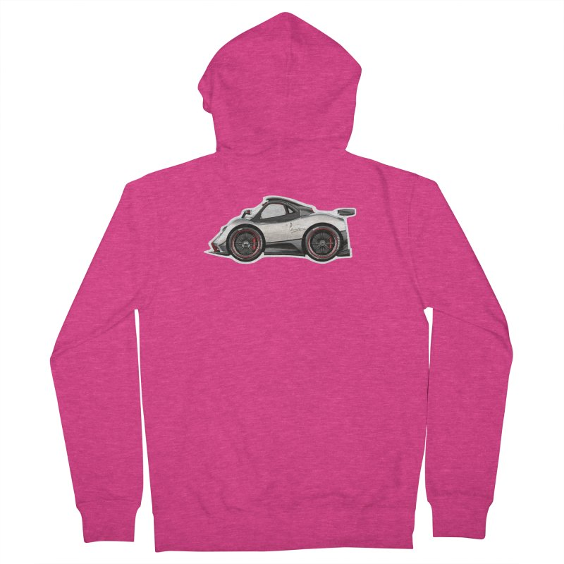 Mini Pagani Zonda Women's Zip-Up Hoody by Pixel Panzers's Merch Emporium