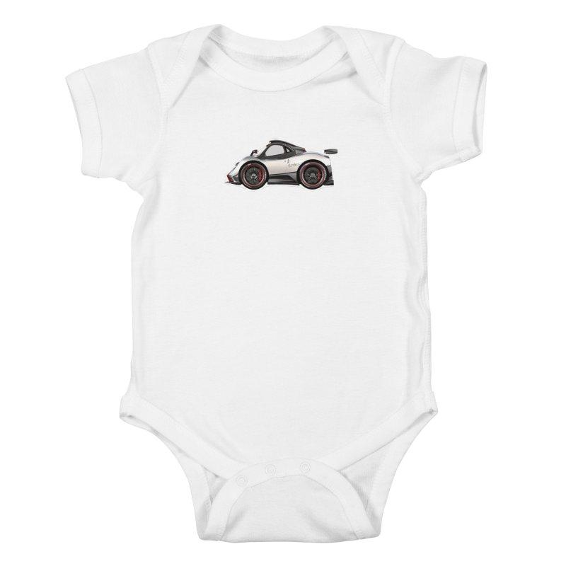 Mini Pagani Zonda Kids Baby Bodysuit by Pixel Panzers's Merch Emporium