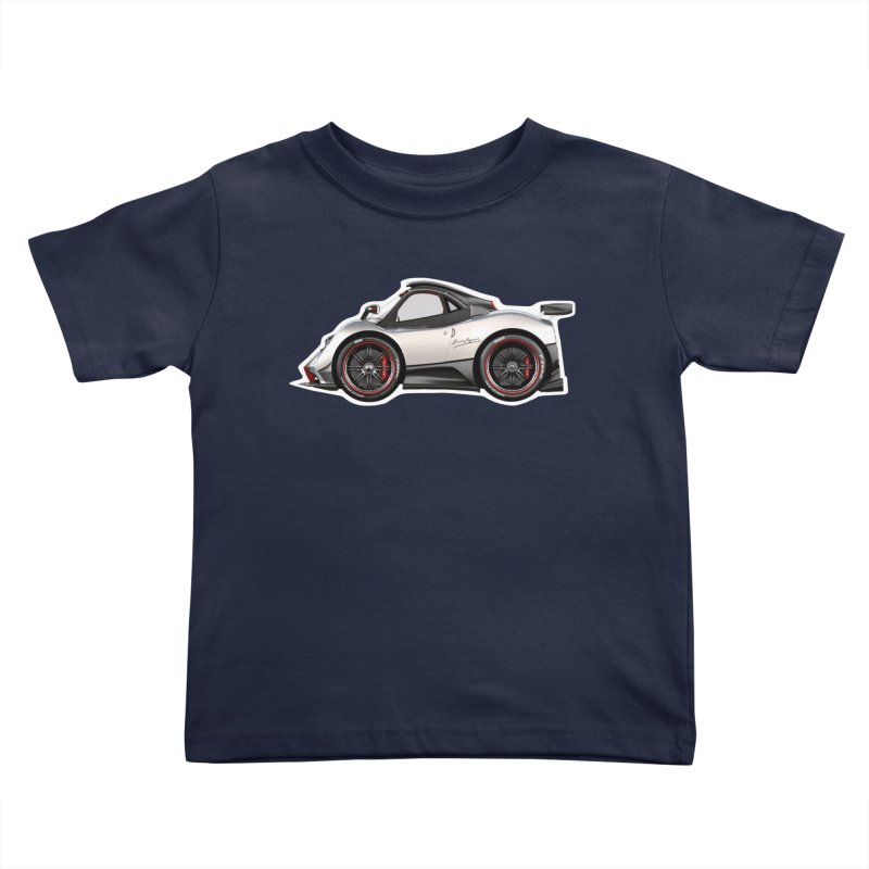 Mini Pagani Zonda Kids Toddler T-Shirt by Pixel Panzers's Merch Emporium