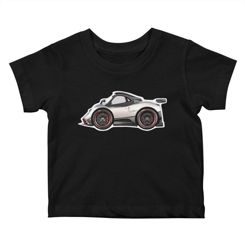 Mini Pagani Zonda Kids Baby T-Shirt by Pixel Panzers's Merch Emporium
