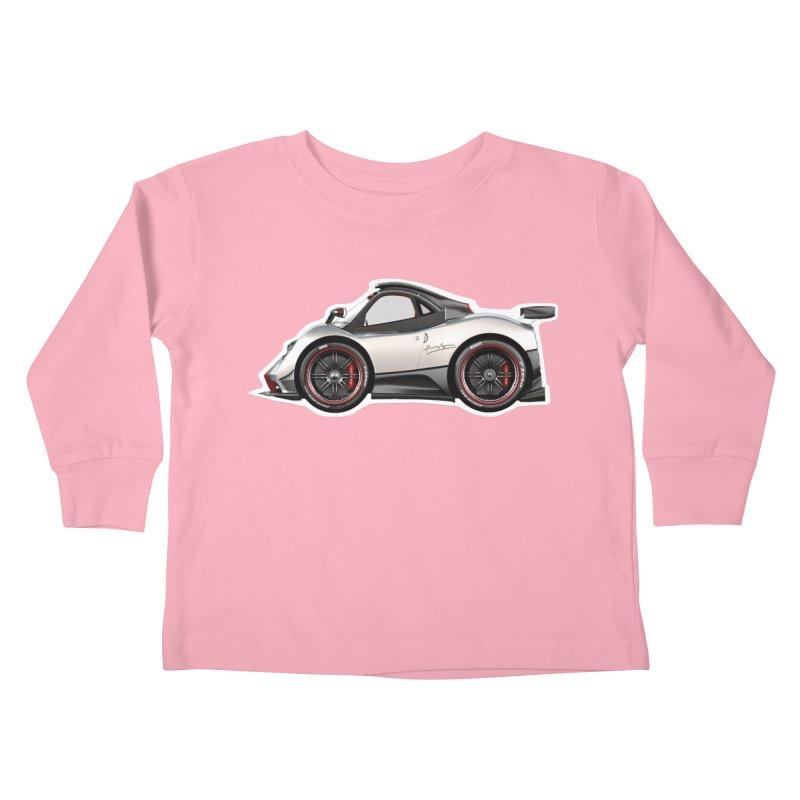 Mini Pagani Zonda Kids Toddler Longsleeve T-Shirt by Pixel Panzers's Merch Emporium