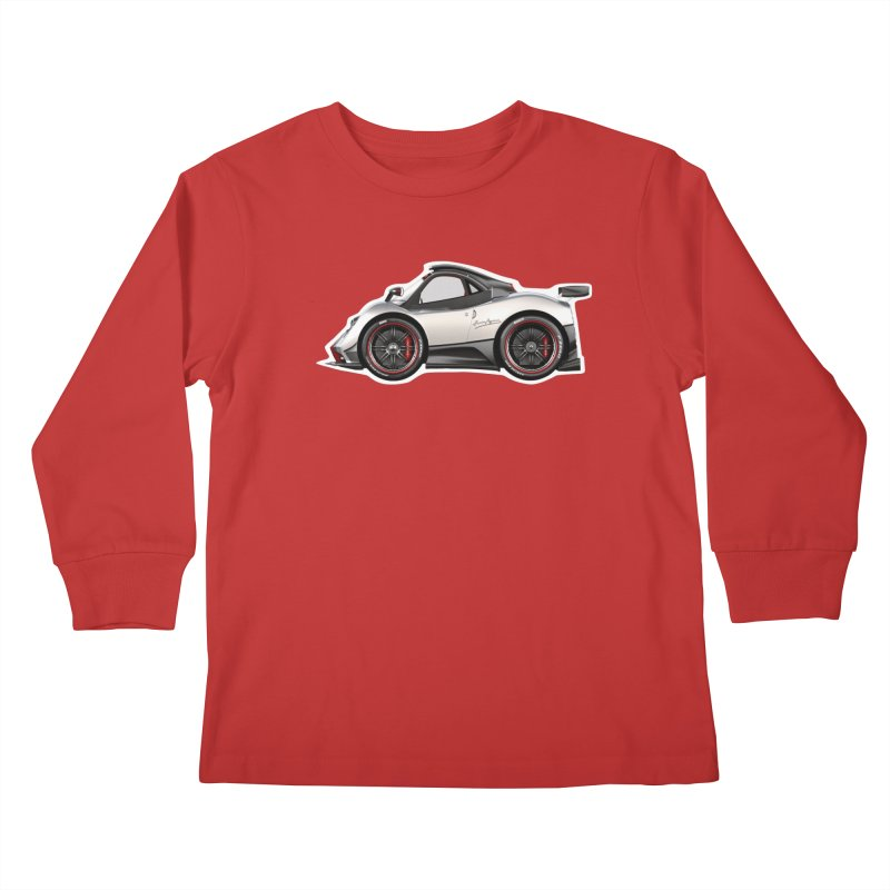 Mini Pagani Zonda Kids Longsleeve T-Shirt by Pixel Panzers's Merch Emporium