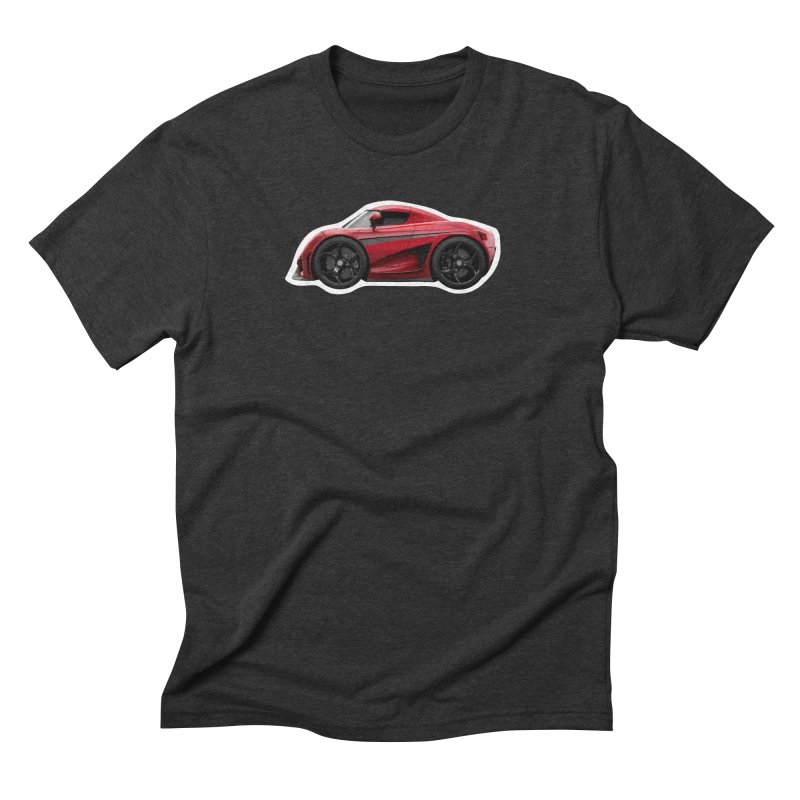 Mini Koenigsegg Regera Men's Triblend T-Shirt by Pixel Panzers's Merch Emporium