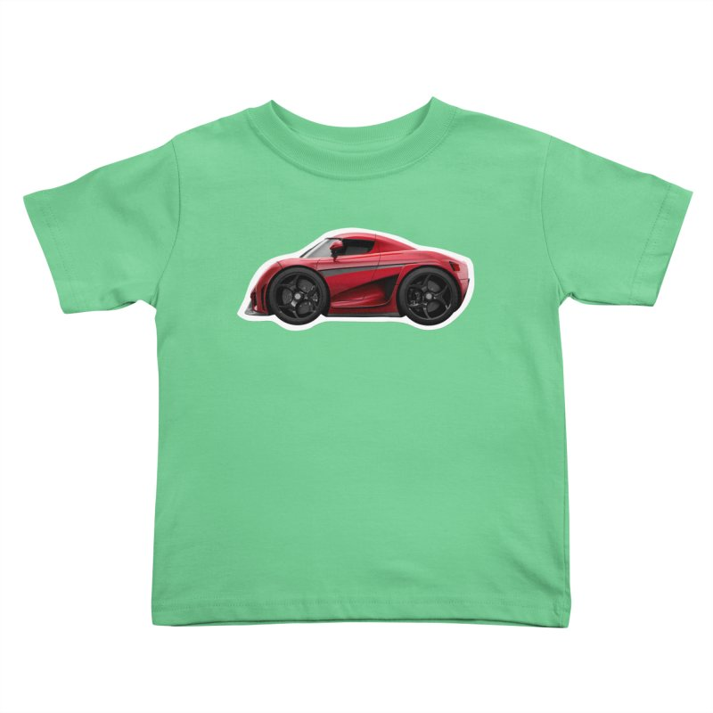 Mini Koenigsegg Regera Kids Toddler T-Shirt by Pixel Panzers's Merch Emporium