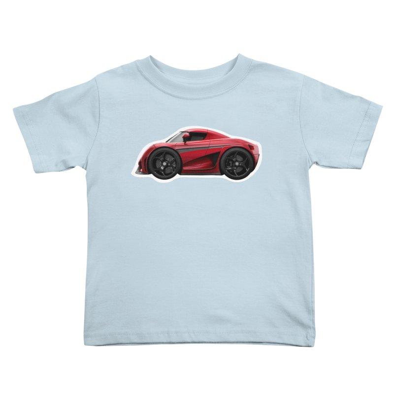 Mini Koenigsegg Regera Kids Toddler T-Shirt by Pixel Panzers's Merch Emporium