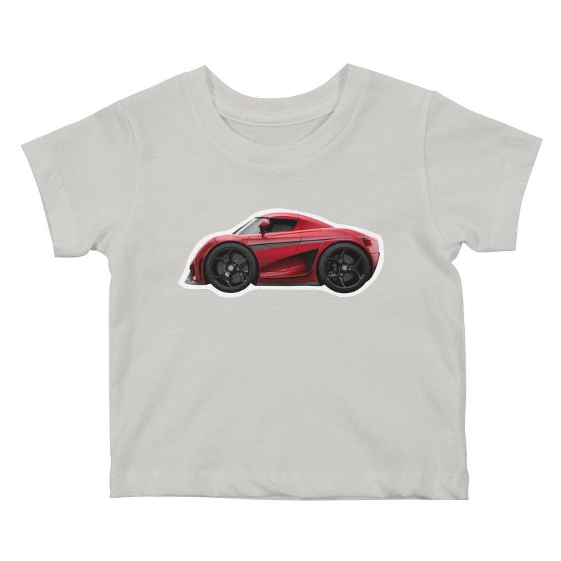 Mini Koenigsegg Regera Kids Baby T-Shirt by Pixel Panzers's Merch Emporium