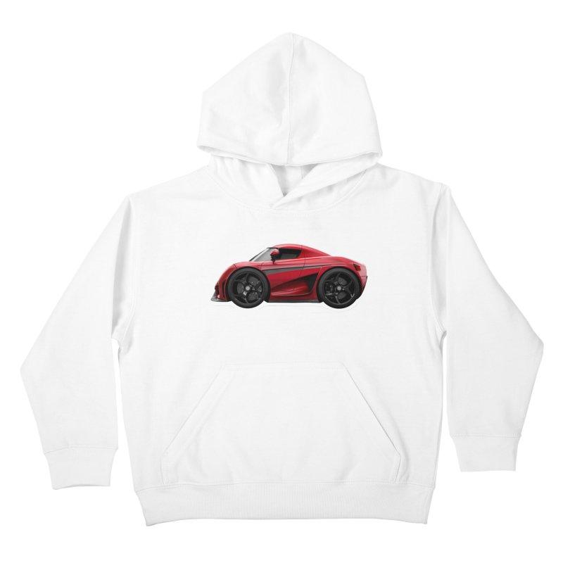 Mini Koenigsegg Regera Kids Pullover Hoody by Pixel Panzers's Merch Emporium