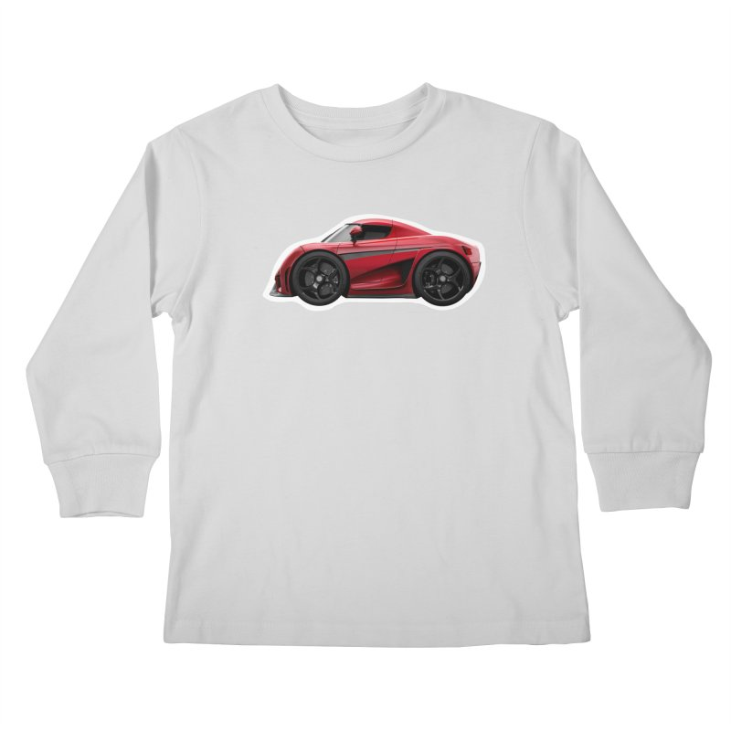 Mini Koenigsegg Regera Kids Longsleeve T-Shirt by Pixel Panzers's Merch Emporium