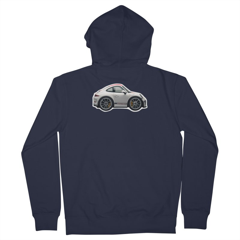 Mini Porsche 911 991r Women's Zip-Up Hoody by Pixel Panzers's Merch Emporium