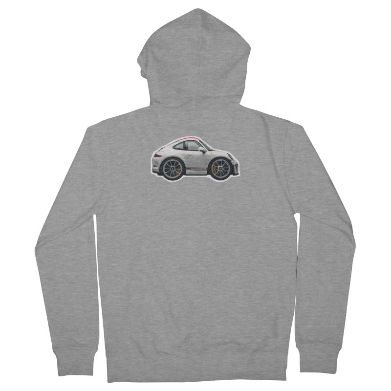 Mini Porsche 911 991r Men's Zip-Up Hoody by Pixel Panzers's Merch Emporium