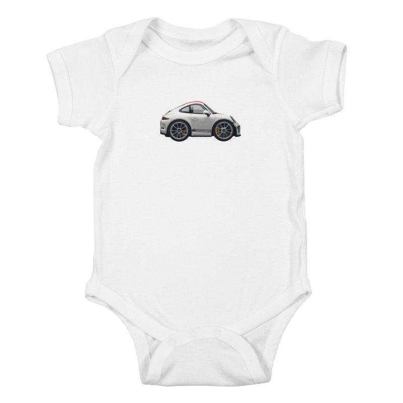 Mini Porsche 911 991r Kids Baby Bodysuit by Pixel Panzers's Merch Emporium