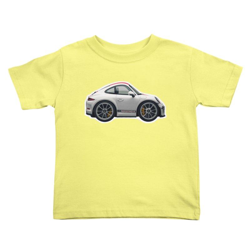 Mini Porsche 911 991r Kids Toddler T-Shirt by Pixel Panzers's Merch Emporium