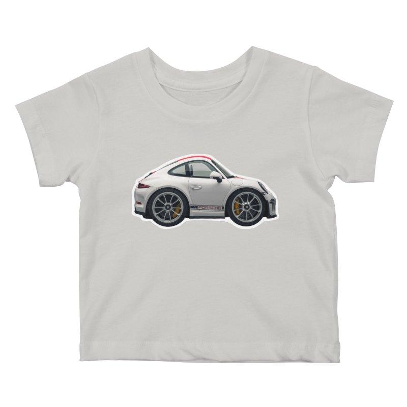 Mini Porsche 911 991r Kids Baby T-Shirt by Pixel Panzers's Merch Emporium