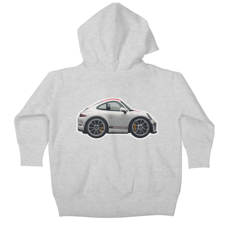Mini Porsche 911 991r Kids Baby Zip-Up Hoody by Pixel Panzers's Merch Emporium