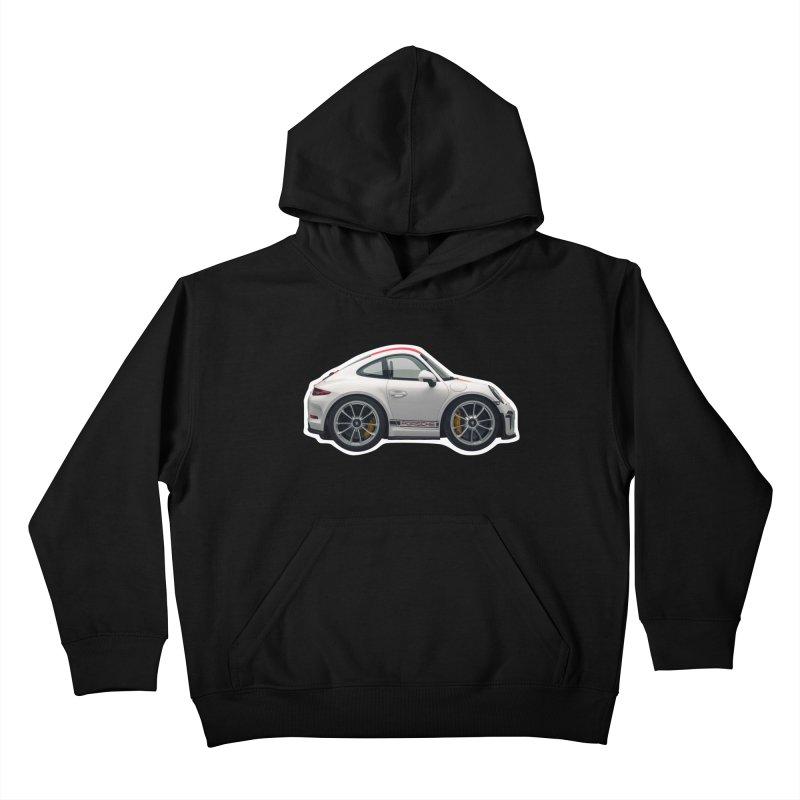Mini Porsche 911 991r Kids Pullover Hoody by Pixel Panzers's Merch Emporium