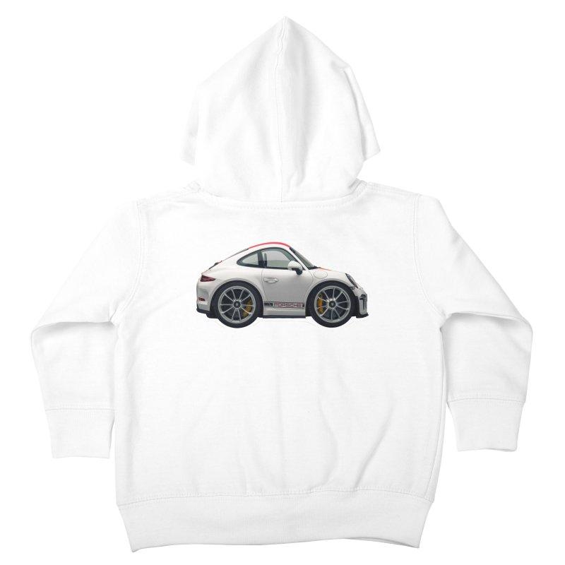 Mini Porsche 911 991r Kids Toddler Zip-Up Hoody by Pixel Panzers's Merch Emporium
