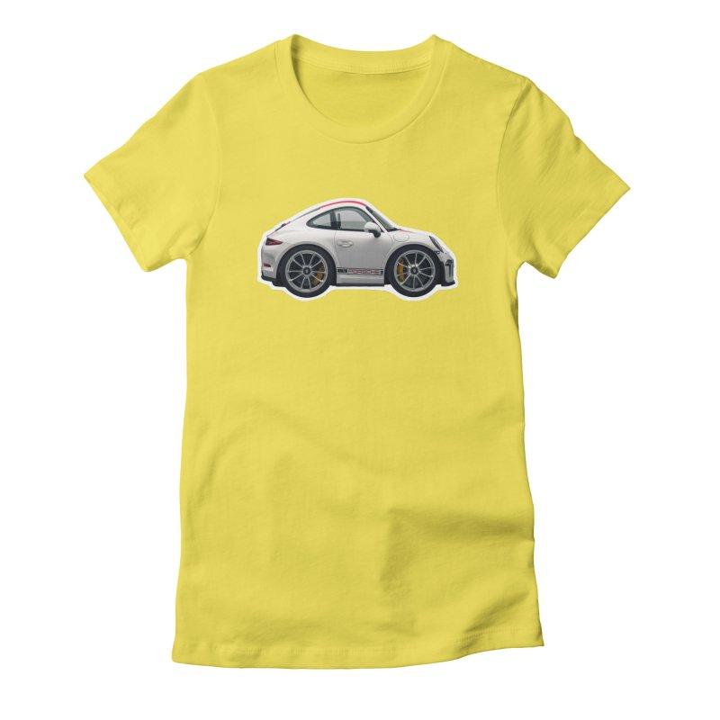 Mini Porsche 911 991r Women's Fitted T-Shirt by Pixel Panzers's Merch Emporium