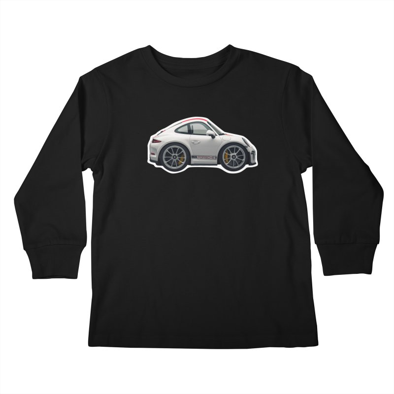 Mini Porsche 911 991r Kids Longsleeve T-Shirt by Pixel Panzers's Merch Emporium