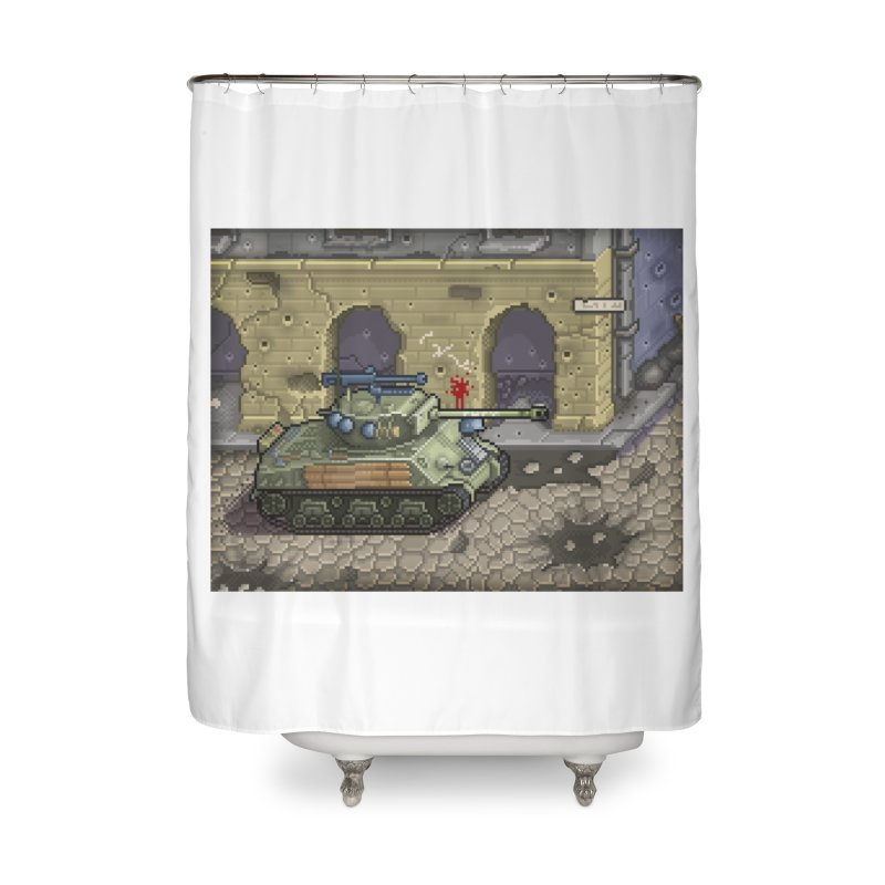 Fury M4 - From the Fury Movie (M4AE38) Home Shower Curtain by Pixel Panzers's Merch Emporium