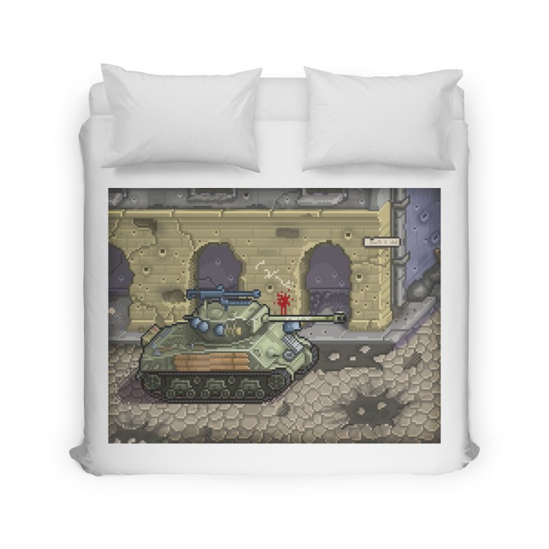 Fury M4 - From the Fury Movie (M4AE38) Home Duvet by Pixel Panzers's Merch Emporium