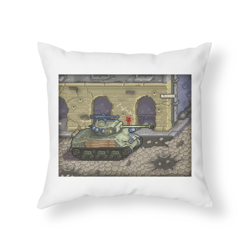 Fury M4 - From the Fury Movie (M4AE38) Home Throw Pillow by Pixel Panzers's Merch Emporium