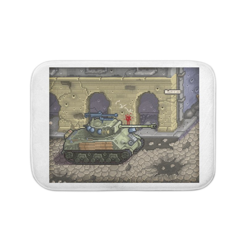 Fury M4 - From the Fury Movie (M4AE38) Home Bath Mat by Pixel Panzers's Merch Emporium