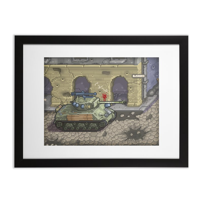 Fury M4 - From the Fury Movie (M4AE38) Home Framed Fine Art Print by Pixel Panzers's Merch Emporium