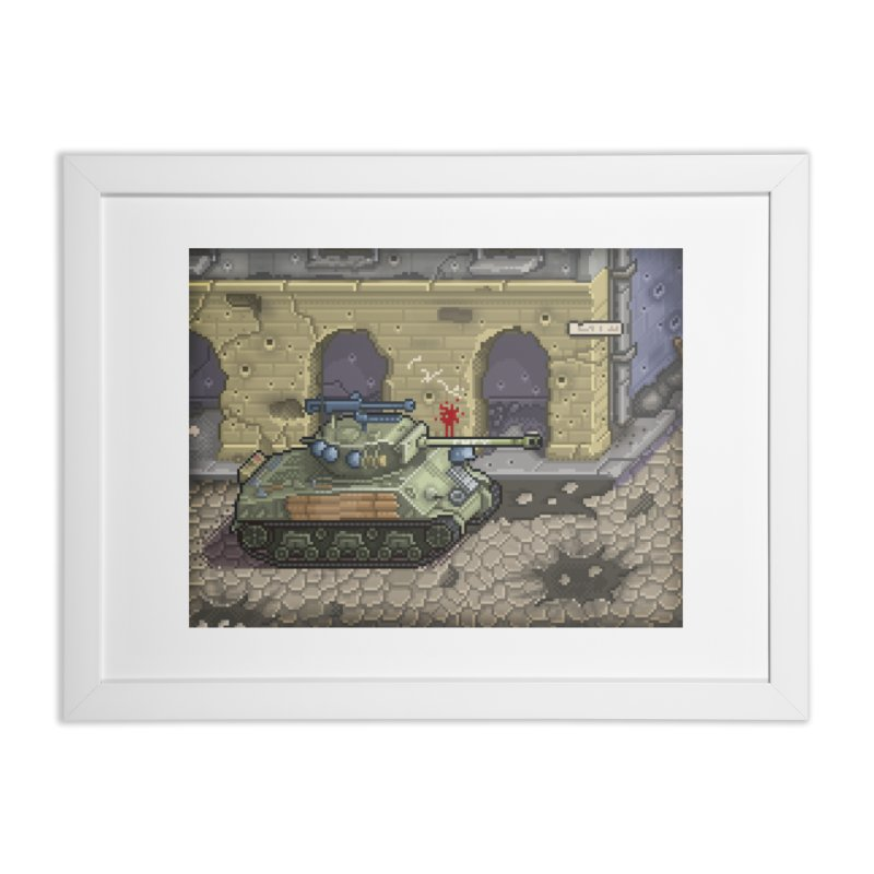 Fury M4 - From the Fury Movie (M4AE38) in Framed Fine Art Print White by Pixel Panzers's Merch Emporium