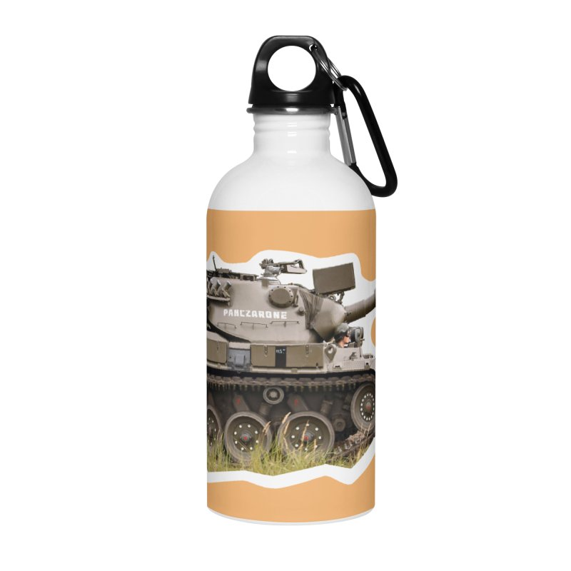Mini Leopard I Main Battle Tank Accessories Water Bottle by Pixel Panzers's Merchandise