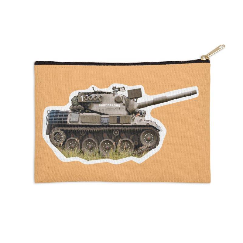 Mini Leopard I Main Battle Tank Accessories Zip Pouch by Pixel Panzers's Merchandise