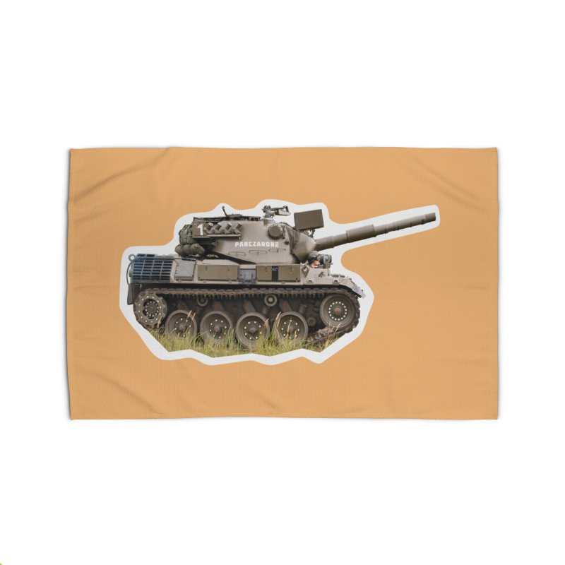 Mini Leopard I Main Battle Tank Home Rug by Pixel Panzers's Merchandise