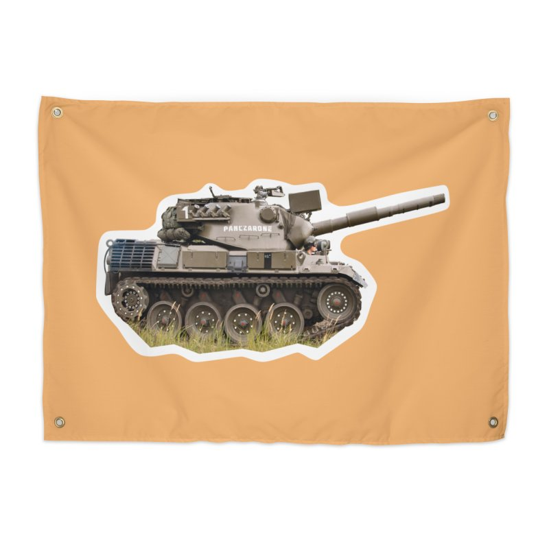 Mini Leopard I Main Battle Tank Home Tapestry by Pixel Panzers's Merchandise
