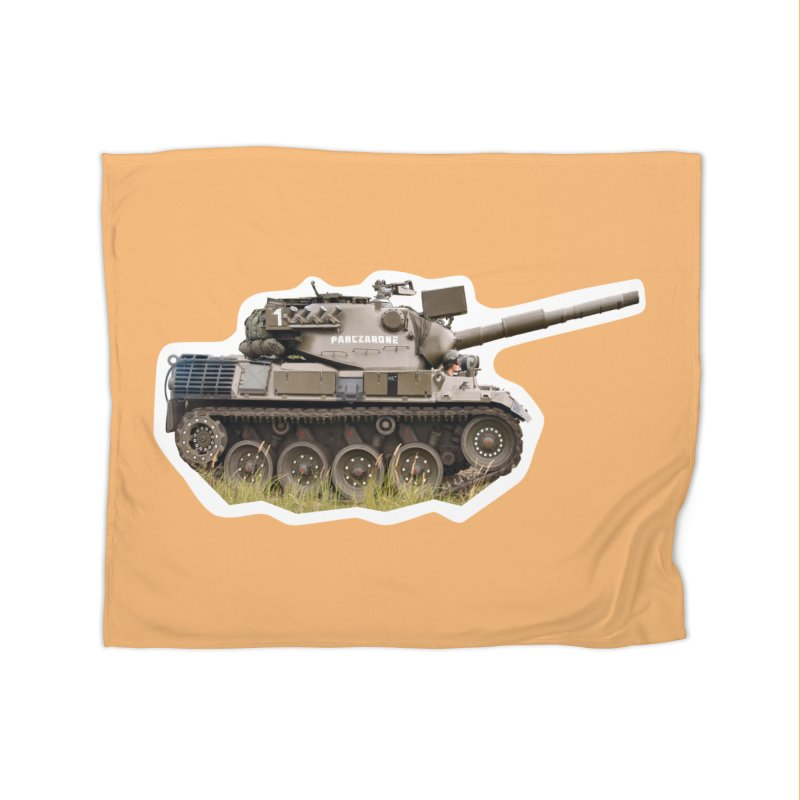 Mini Leopard I Main Battle Tank Home Fleece Blanket Blanket by Pixel Panzers's Merchandise