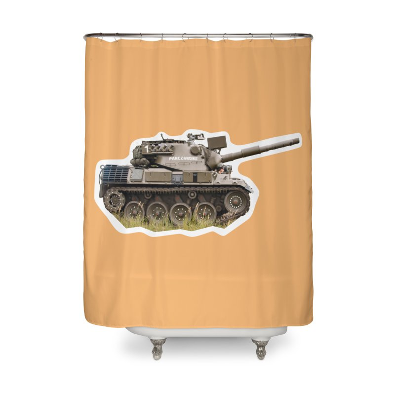 Mini Leopard I Main Battle Tank Home Shower Curtain by Pixel Panzers's Merchandise