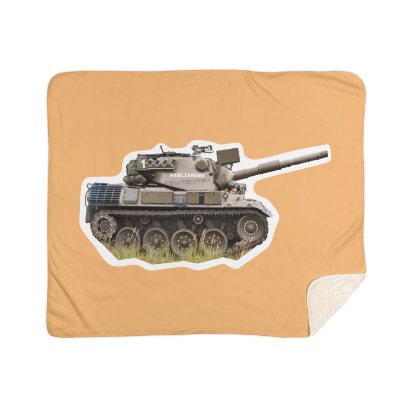Mini Leopard I Main Battle Tank Home Sherpa Blanket Blanket by Pixel Panzers's Merchandise