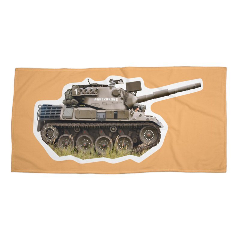 Mini Leopard I Main Battle Tank Accessories Beach Towel by Pixel Panzers's Merchandise