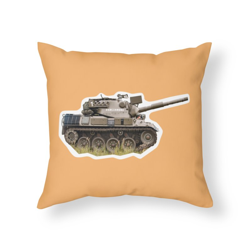 Mini Leopard I Main Battle Tank Home Throw Pillow by Pixel Panzers's Merchandise