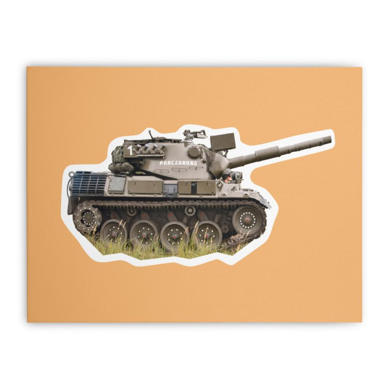 Mini Leopard I Main Battle Tank Home Stretched Canvas by Pixel Panzers's Merchandise