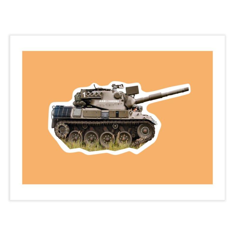 Mini Leopard I Main Battle Tank Home Fine Art Print by Pixel Panzers's Merchandise