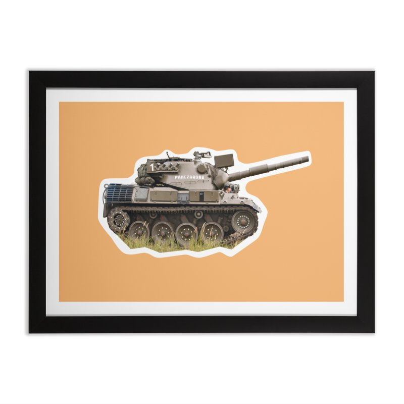 Mini Leopard I Main Battle Tank Home Framed Fine Art Print by Pixel Panzers's Merchandise