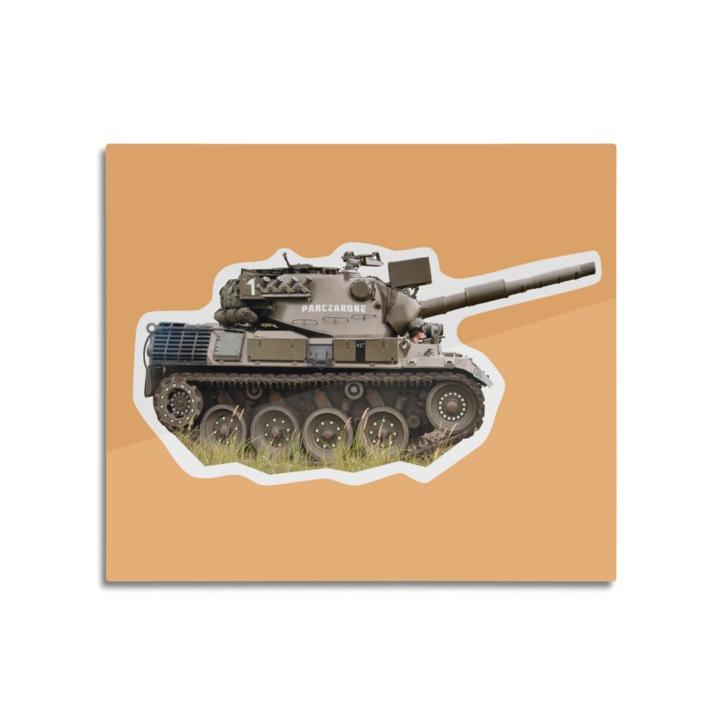 Mini Leopard I Main Battle Tank Home Mounted Aluminum Print by Pixel Panzers's Merchandise